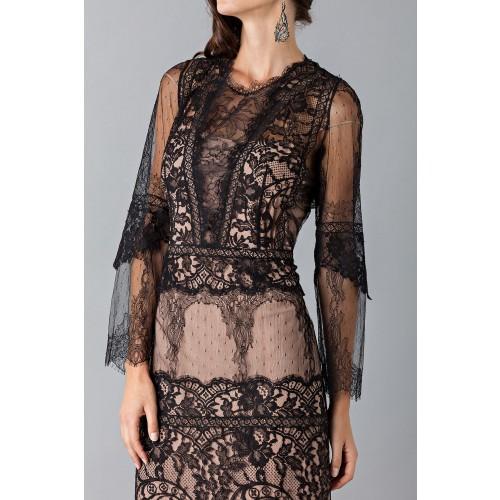 Vendita Abbigliamento Usato FIrmato - Long dress with lace decorations - Alberta Ferretti - Drexcode -5
