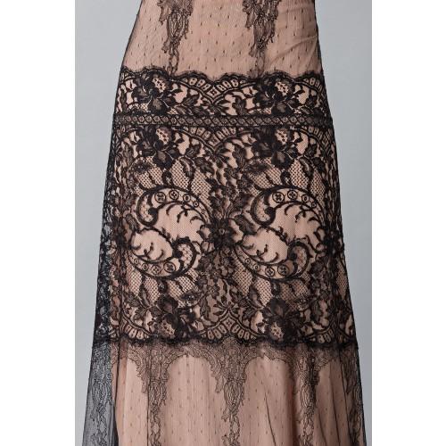 Vendita Abbigliamento Usato FIrmato - Long dress with lace decorations - Alberta Ferretti - Drexcode -3
