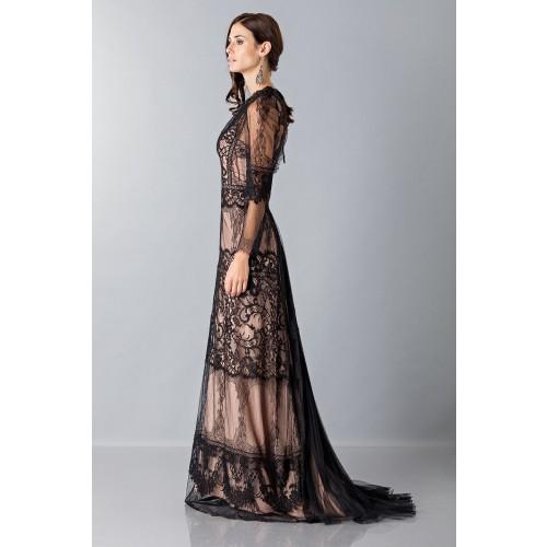Vendita Abbigliamento Usato FIrmato - Long dress with lace decorations - Alberta Ferretti - Drexcode -4