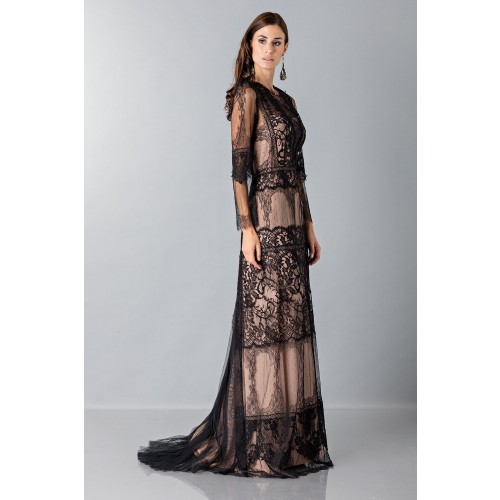 Vendita Abbigliamento Usato FIrmato - Long dress with lace decorations - Alberta Ferretti - Drexcode -2