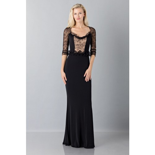 Vendita Abbigliamento Usato FIrmato - Black mermaid dress with lace sleeves - Blumarine - Drexcode -7
