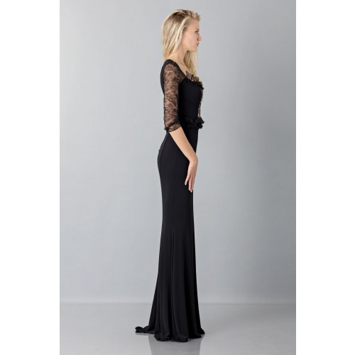 Vendita Abbigliamento Usato FIrmato - Black mermaid dress with lace sleeves - Blumarine - Drexcode -3