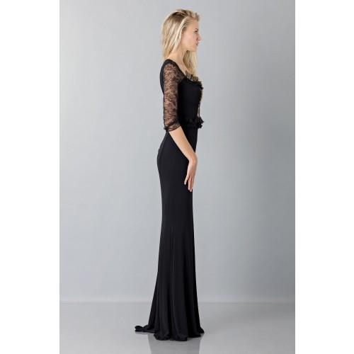 Vendita Abbigliamento Usato FIrmato - Black mermaid dress with lace sleeves - Blumarine - Drexcode -3
