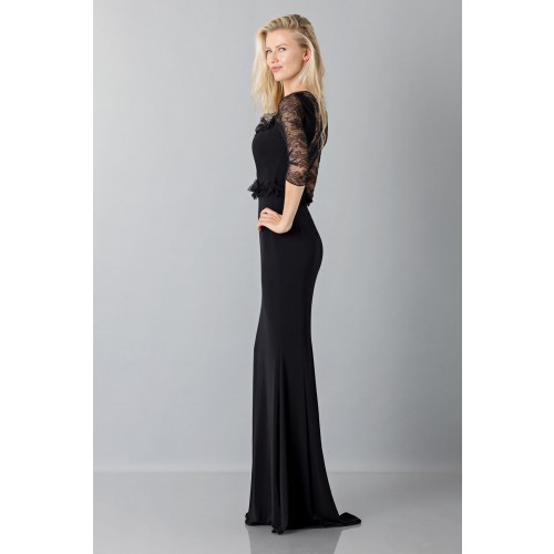 Vendita Abbigliamento Usato FIrmato - Black mermaid dress with lace sleeves - Blumarine - Drexcode -2
