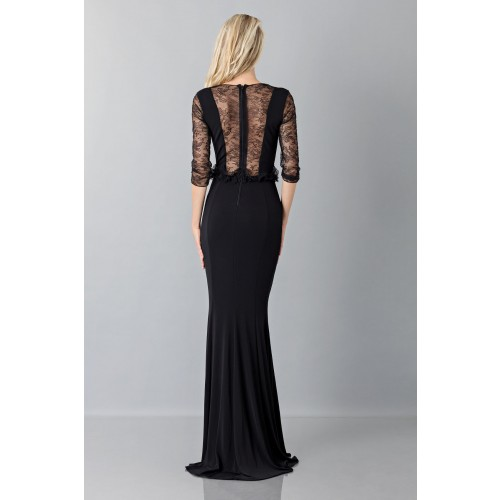 Vendita Abbigliamento Usato FIrmato - Black mermaid dress with lace sleeves - Blumarine - Drexcode -6