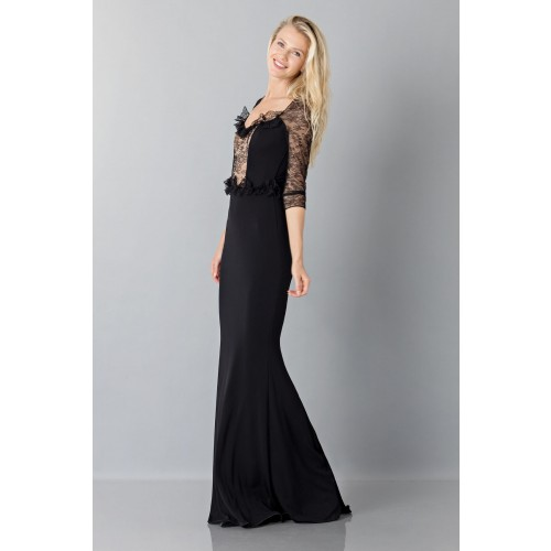 Vendita Abbigliamento Usato FIrmato - Black mermaid dress with lace sleeves - Blumarine - Drexcode -4