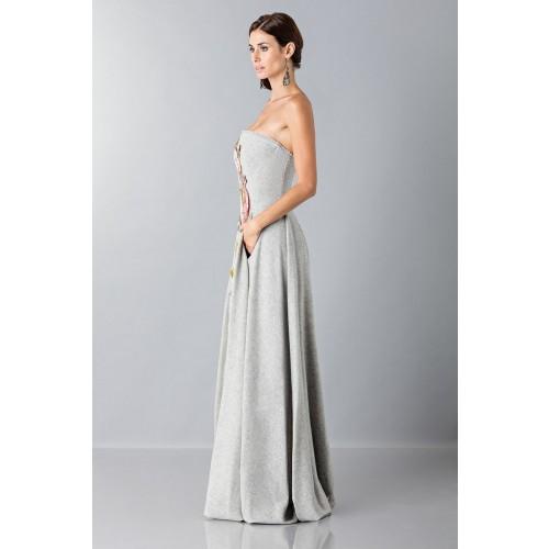 Vendita Abbigliamento Usato FIrmato - Gray bustier with floral themed applique - Alberta Ferretti - Drexcode -6