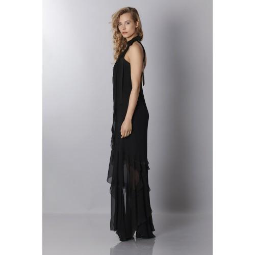 Vendita Abbigliamento Usato FIrmato - Black chiffon dress - Alberta Ferretti - Drexcode -7