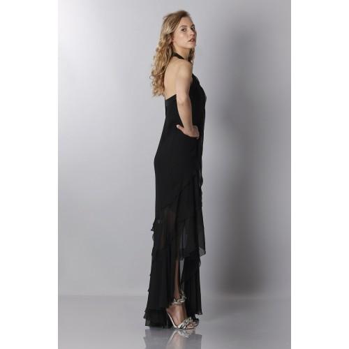 Vendita Abbigliamento Usato FIrmato - Black chiffon dress - Alberta Ferretti - Drexcode -5