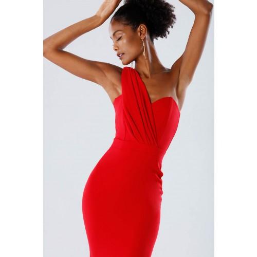 Vendita Abbigliamento Usato FIrmato - One-shoulder red mermaid dress - Rhea Costa - Drexcode -2
