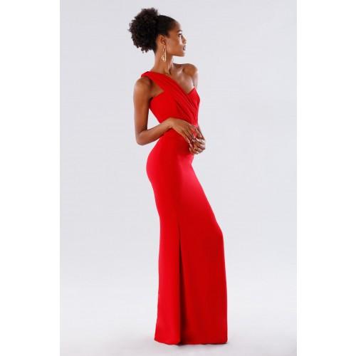 Vendita Abbigliamento Usato FIrmato - One-shoulder red mermaid dress - Rhea Costa - Drexcode -5