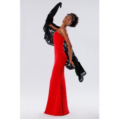 Vendita Abbigliamento Usato FIrmato - One-shoulder red mermaid dress - Rhea Costa - Drexcode -6