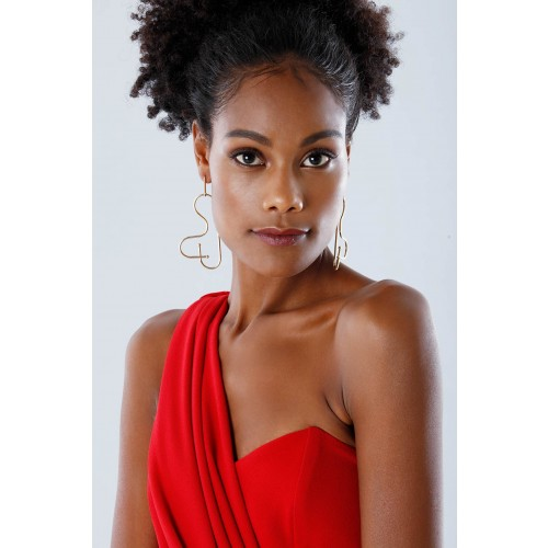 Vendita Abbigliamento Usato FIrmato - One-shoulder red mermaid dress - Rhea Costa - Drexcode -7