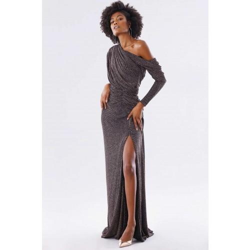 Vendita Abbigliamento Usato FIrmato - Long dress with glitter - Rhea Costa - Drexcode -3