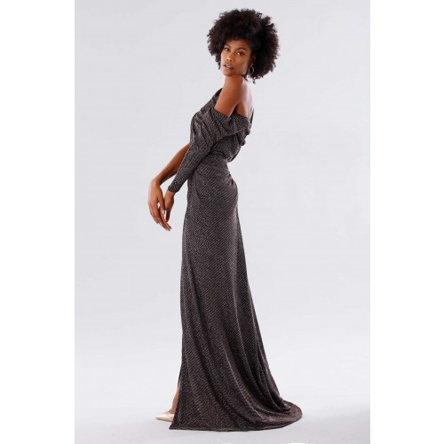 Vendita Abbigliamento Usato FIrmato - Long dress with glitter - Rhea Costa - Drexcode -2