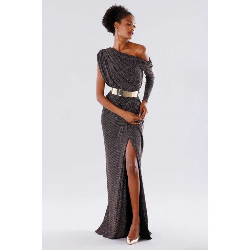 Vendita Abbigliamento Usato FIrmato - Long dress with glitter - Rhea Costa - Drexcode -1