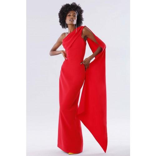 Vendita Abbigliamento Usato FIrmato - One-shoulder red dress with drapery - Tot-Hom - Drexcode -1