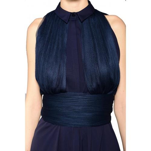 Vendita Abbigliamento Usato FIrmato - Shirtdress with draped silk tulle - Vionnet - Drexcode -5