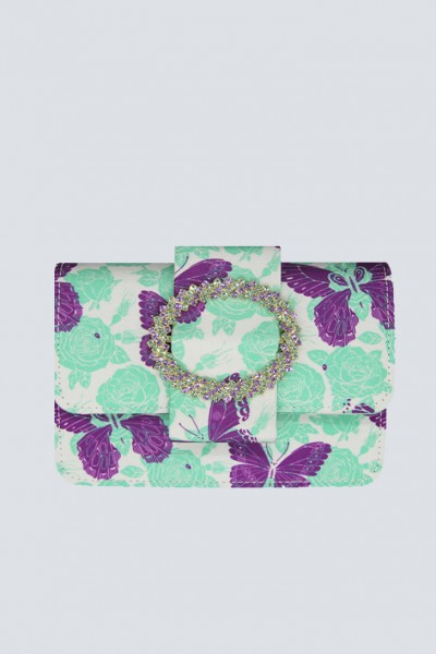 Mini bag with butterfly print