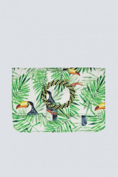 Mini bag with tropical print