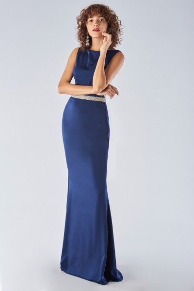 Dress with jeweled belt