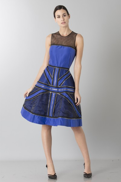 Crepe silk dress with zip