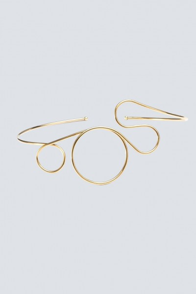 Choker in gold plated brass