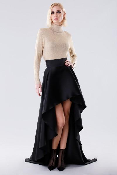 Asymmetrical high-waisted skirt