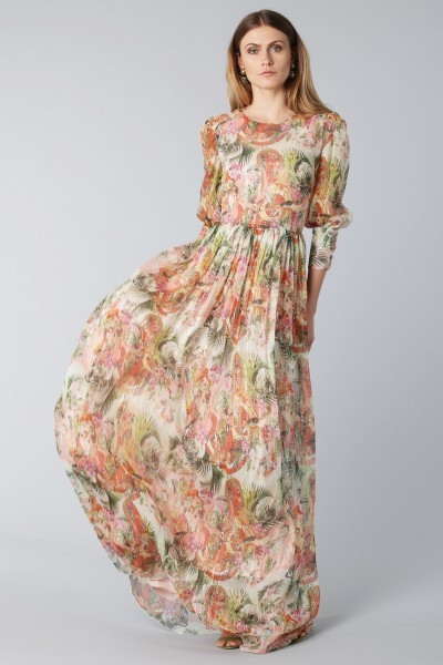 Flower dress with sleeves