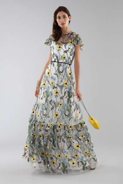 Long floral pattern dress