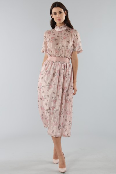 Top with sleeves and midi skirt
