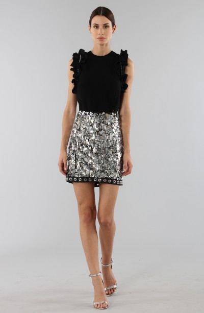 Sequins and rhinestones skirt