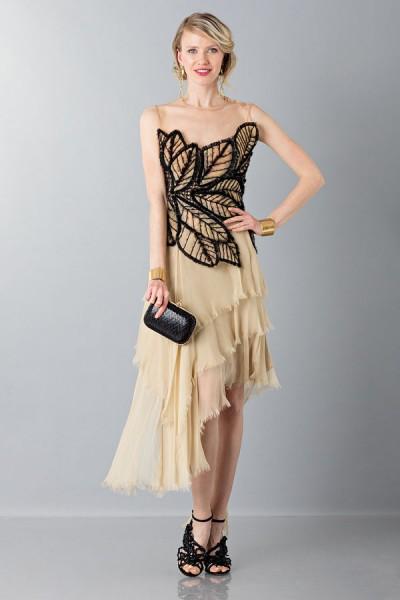 Organza and chiffon dress