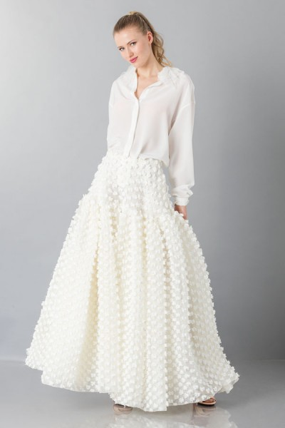 Pop-corn white skirt