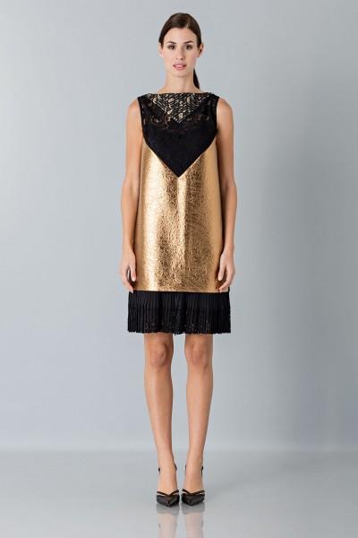 Gold short dress