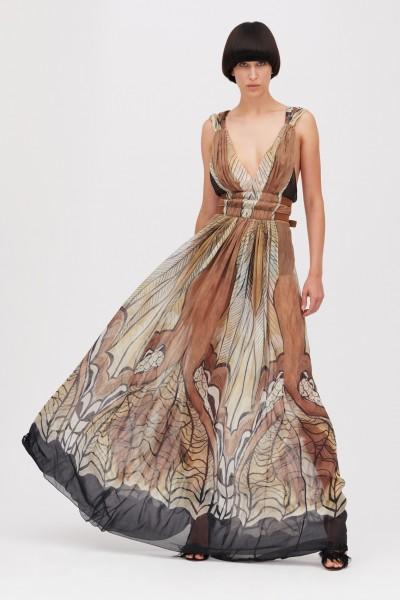 Ethinc floor-length dress