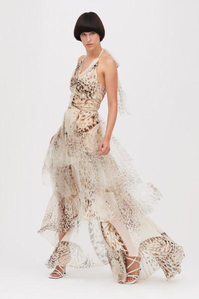 Animalier silk dress