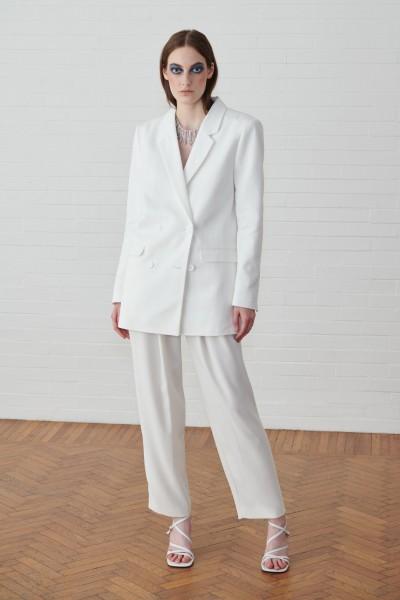 Completo giacca e pantalone bianco