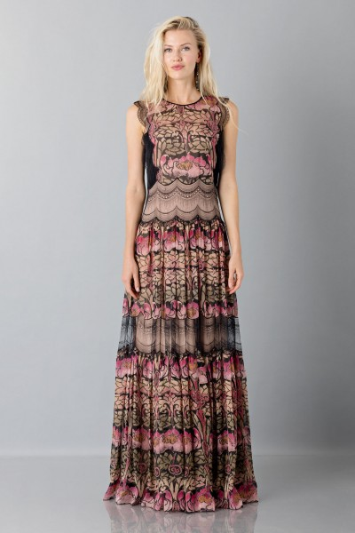 Silk and lace chiffon dress