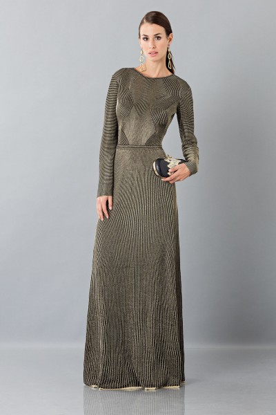 Long sleeve dress with golden textures