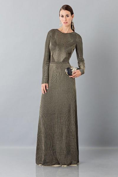 Long sleeve dress with golden textures