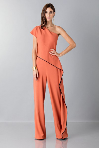 Jumpsuit with side drape