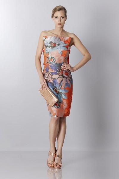 Floreal jacquard dress