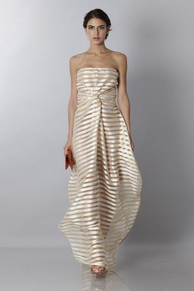Golden stripes long dress