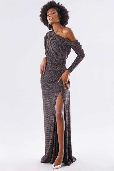 Long dress with glitter
