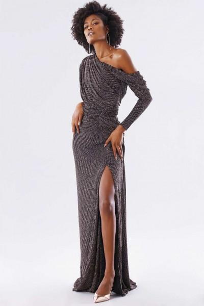 Long dress with glitter