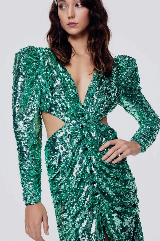 Marais Sequin Maxi Dress