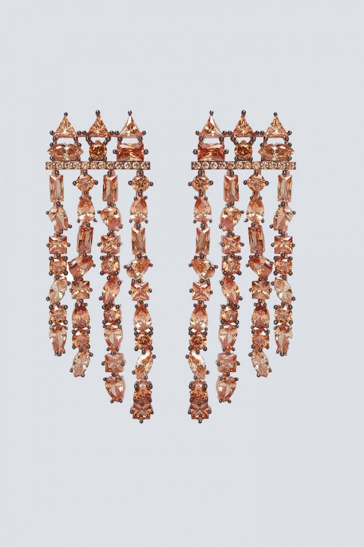 Orecchini chandelier champagne