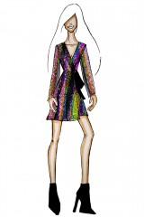 Drexcode - Wrap dress con paillettes mullticolori - Drexcode - Vendita - 8