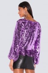 Drexcode - Madeleine Sequin Top - For Love and Lemons - Vendita - 2